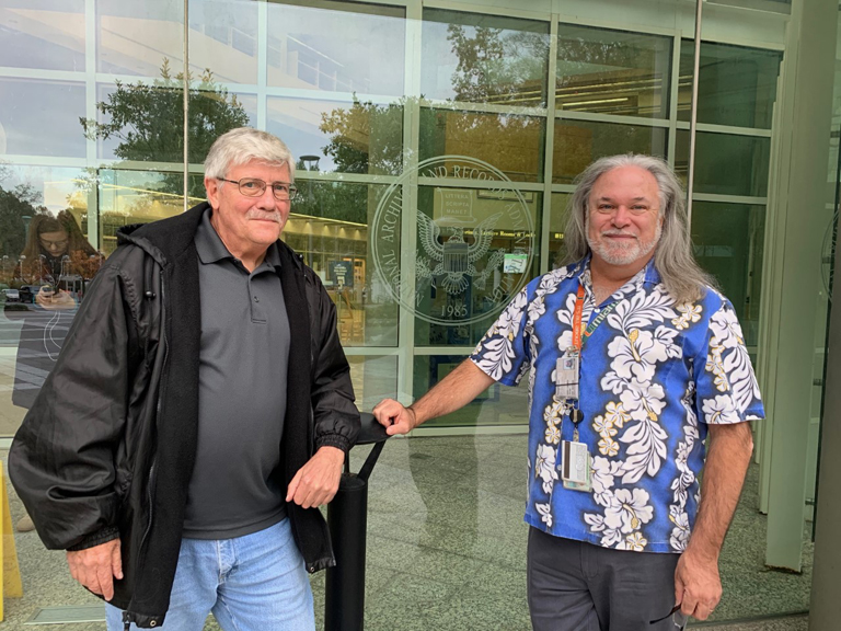 Bill and Gary at the Archives